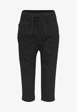 HMLLEO - Straight leg jeans - black denim