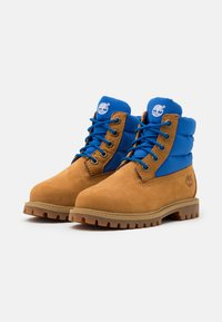 Timberland - PREMIUM UNISEX - Lace-up ankle boots - wheat/blue - 1