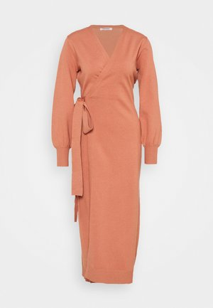 MIDI DRESS - Jumper dress - copper