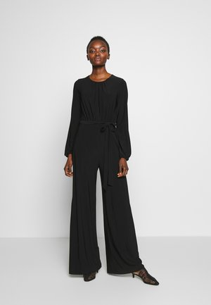 PLEATED BLOUSON JUMPSUIT - Jumpsuit - black
