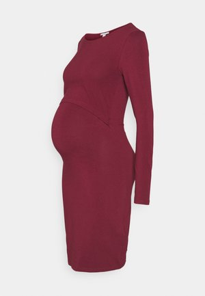 NURSING FUNCTION dress - Žerzejové šaty - dark red