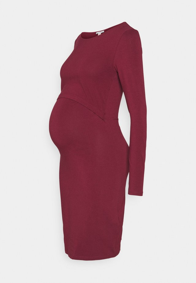 NURSING FUNCTION dress - Jersey dress - dark red