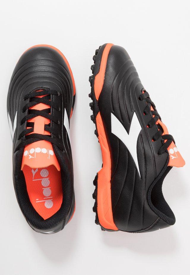 PICHICHI 2 TF - Astro turf trainers - black/white/red fluo