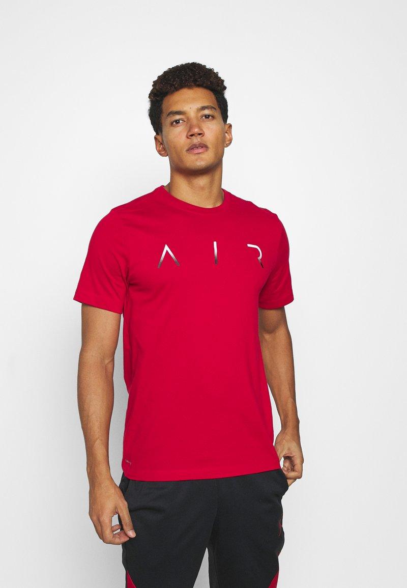 Jordan - JUMPMAN AIR CREW - Triko spotiskem - gym red/white