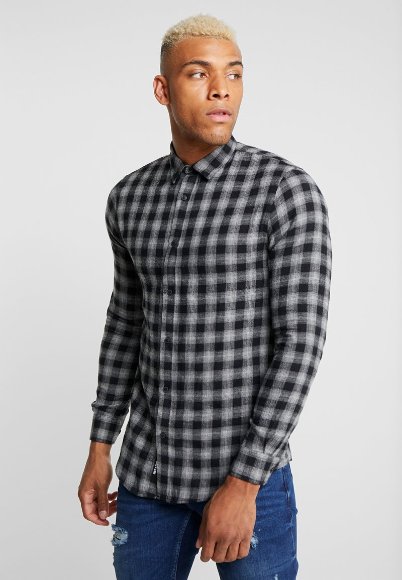 Only & Sons - ONSEMIL CHECK - Overhemd - medium grey melange