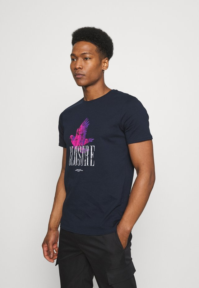 PAX TEE - T-shirt con stampa - navy