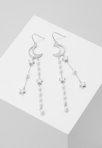 MOON STARS - Earrings - silber-colouredccc