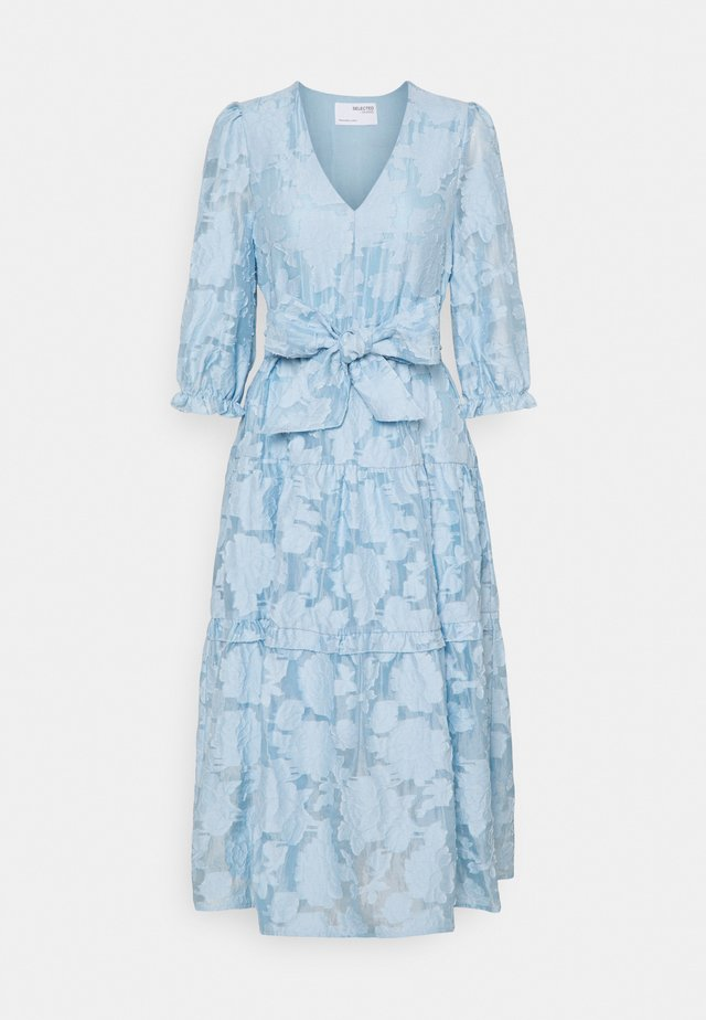 SLFSADIE MIDI DRESS - Korte jurk - cashmere blue
