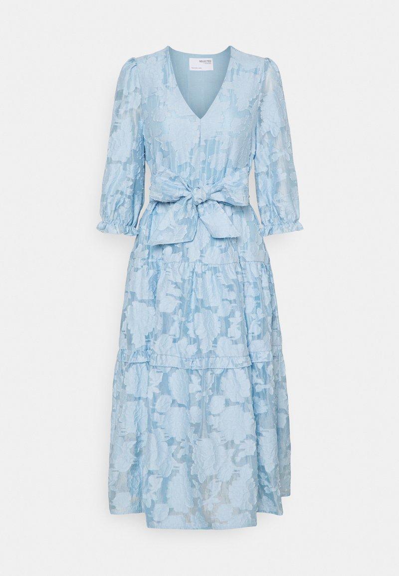 Selected Femme - SLFSADIE MIDI DRESS - Vapaa-ajan mekko - cashmere blue