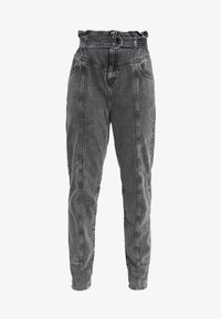 River Island Petite - PAPERBAG UTILITY  - Relaxed fit jeans - grey acid - 4