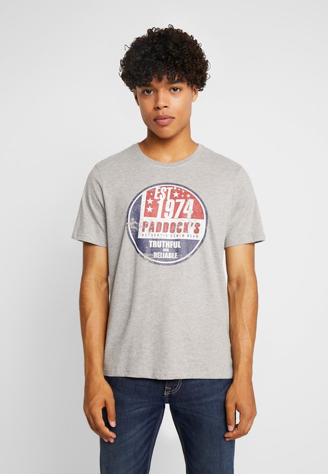 PINT - T-shirt con stampa - grey hether