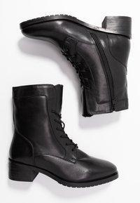 Anna Field - LEATHER WINTER BOOTIES - Botines con cordones - black - 3