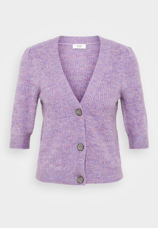 JDYDREA SHORT CARDIGAN - Kardigan - lavender gray/melange