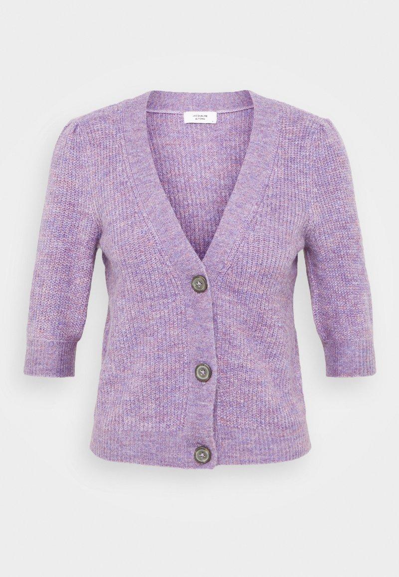 JDY - JDYDREA SHORT CARDIGAN - Cardigan - lavender gray/melange