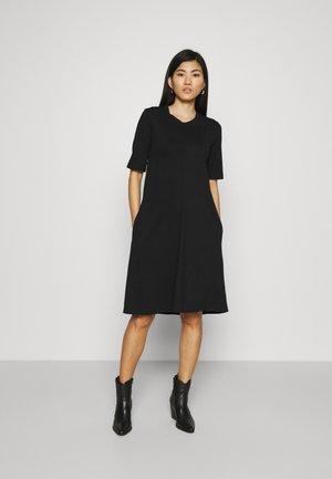 A LINE DRESS - Jersey dress - black
