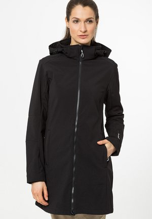 WOMAN ZIP HOOD - Soft shell jacket - nero
