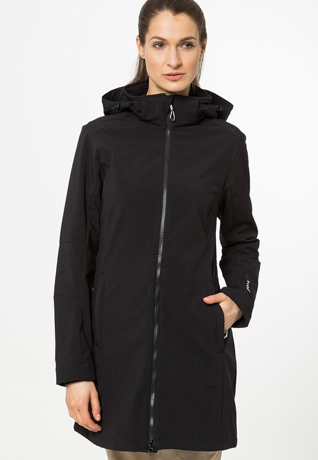 WOMAN ZIP HOOD - Veste softshell - nero