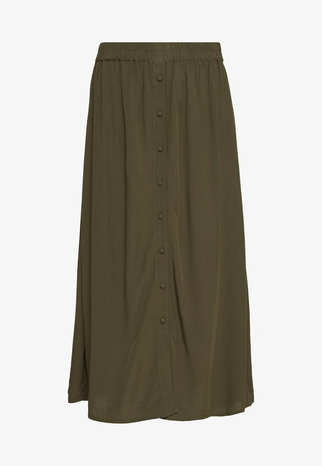 VMGAEL CALF - A-line skirt - ivy green