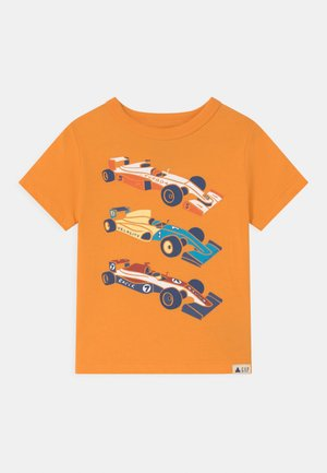 TODDLER BOY GRAPHIC - Triko s potiskem - mango orange