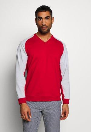 WISDOM - Sweatshirt - red/pearly grey