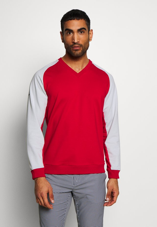 WISDOM - Sweater - red/pearly grey