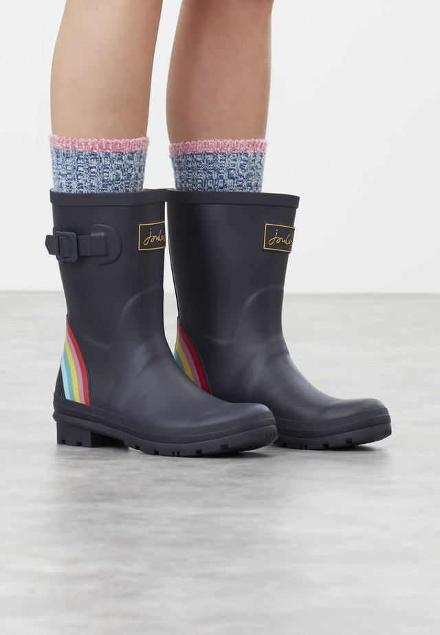 WELLY - Gummistiefel - navy rainbow