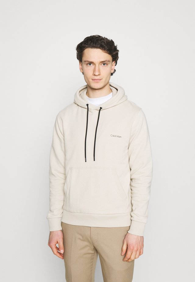 SMALL CHEST LOGO HOODIE - Sweatshirt - beige