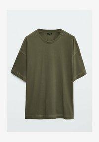 Massimo Dutti - T-shirt basique - khaki - 3