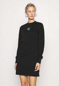 Calvin Klein Jeans - CUT OUT BACK DRESS - Day dress - black - 0