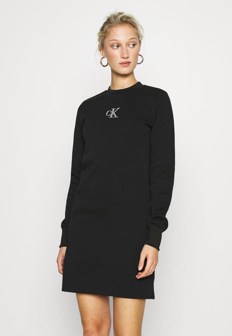 Calvin Klein Jeans - CUT OUT BACK DRESS - Day dress - black