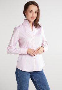 Eterna - MODERN CLASSIC REGULAR FIT - Button-down blouse - rosa - 0