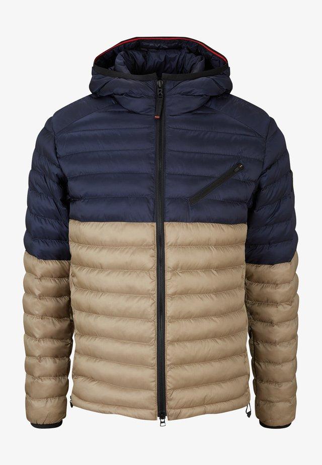 Veste d'hiver - navy blau beige