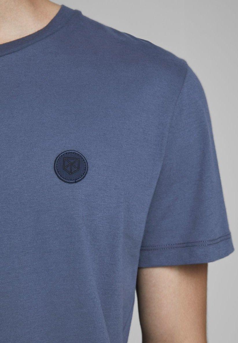 Jack & Jones PREMIUM BADGE - Basic T-shirt - ombre blue hcc4A