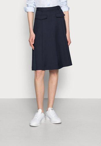 KNEE LENGTH SKIRT - Áčková sukně - blue
