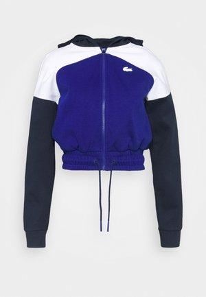 HOOD JACKET - Zip-up sweatshirt - navy blue/white cosmic