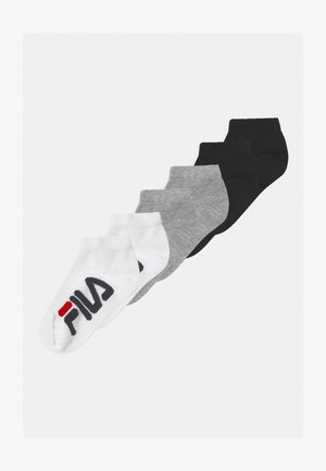 JUNIOR INVISIBLE 6 PACK UNISEX - Socks - black/white/grey