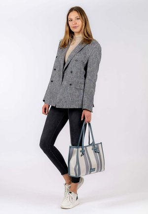Handbag - blue stripes