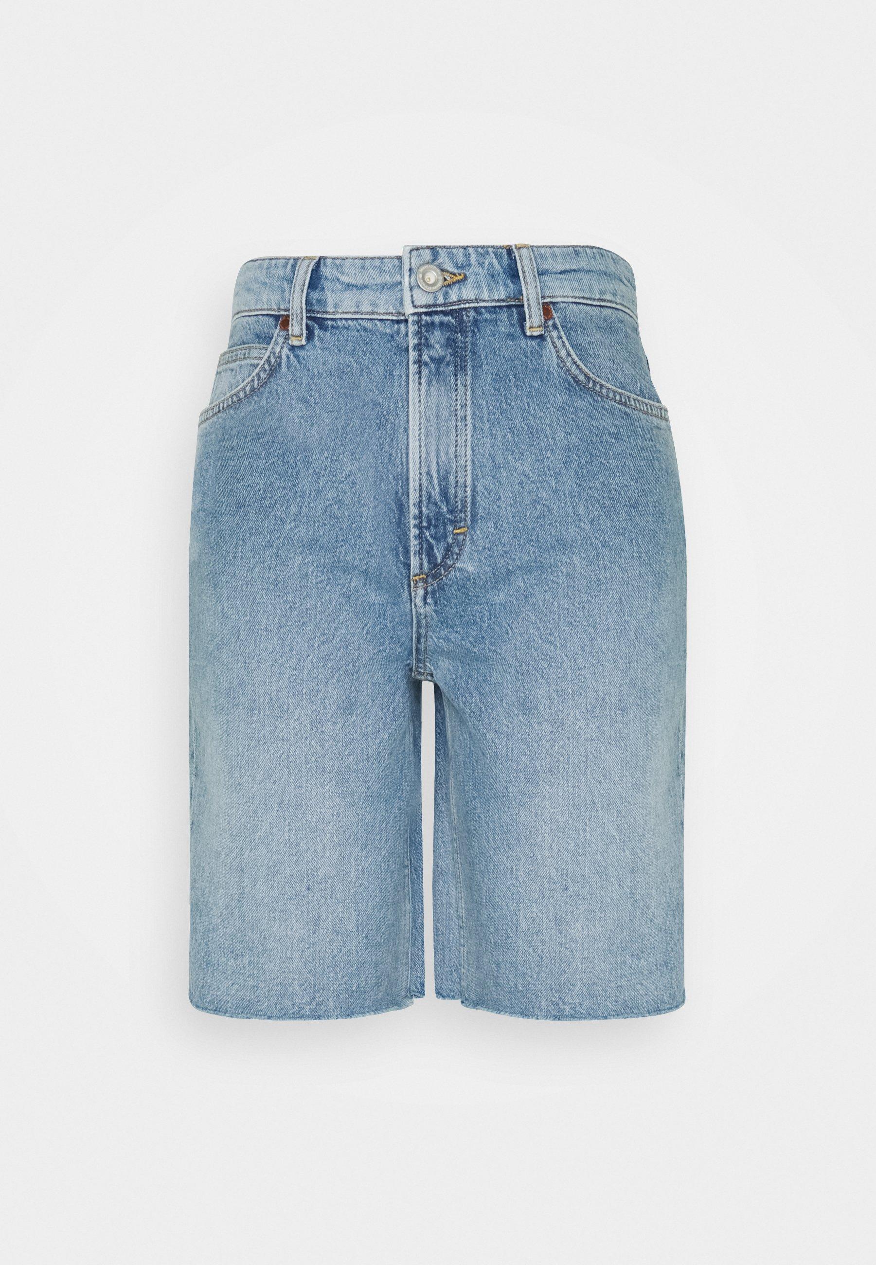 Women HIGH WAIST RELAXED FIT MID LENGTH - Denim shorts