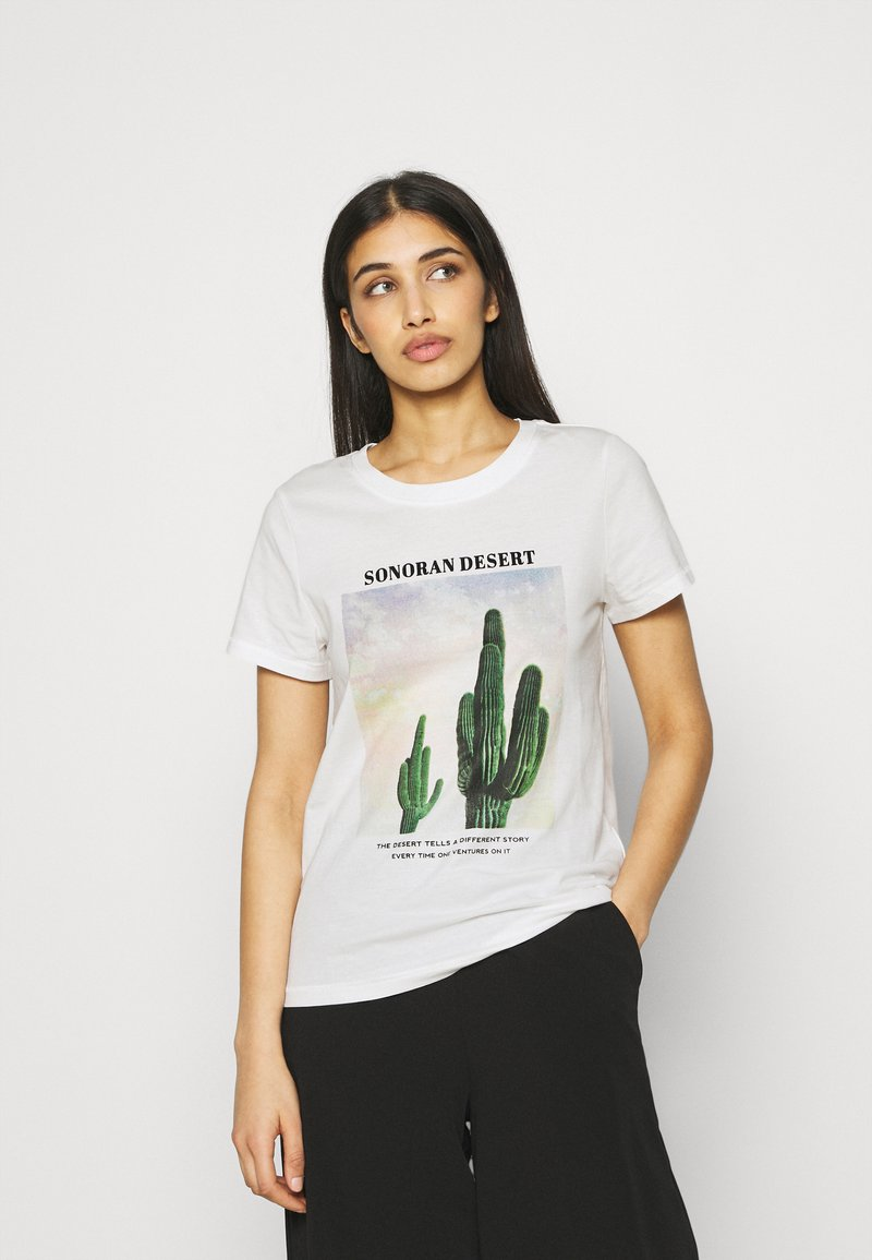 ONLY - ONLLALA LIFE - T-shirt imprimé - cloud dancer