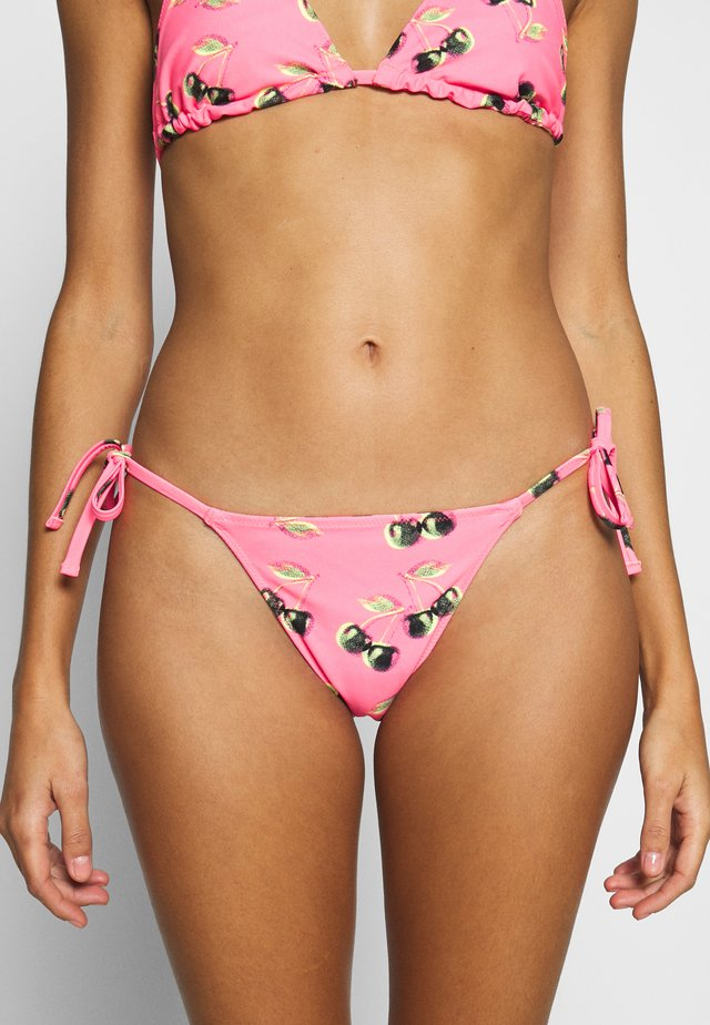 CHEEKY STRING REVERSIBLE - Bikini bottoms - coral sun