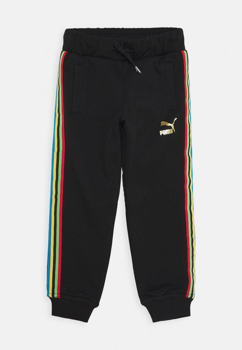Puma - WORLDHOOD TRACK PANTS  - Tracksuit bottoms - black