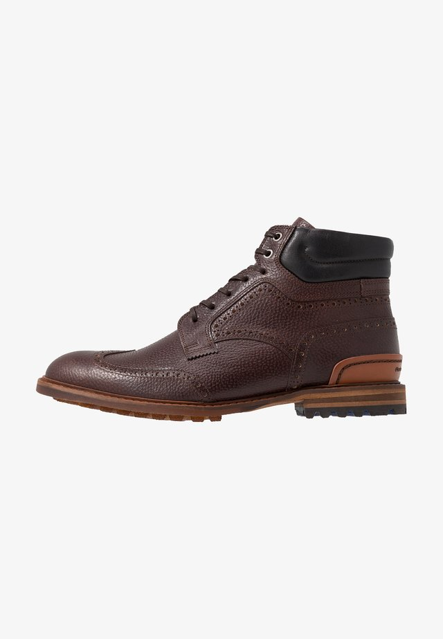 CREPI CUP - Bottines à lacets - dark brown