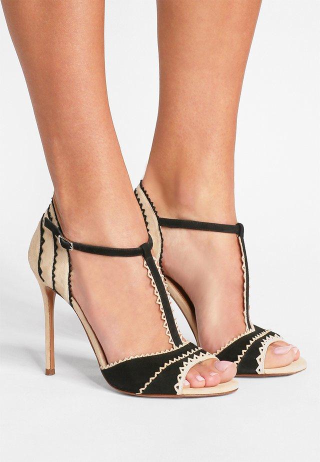 Sandály na vysokém podpatku - black/sand