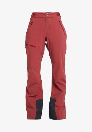 STIPE PANT WOMEN - Kalhoty - brick red