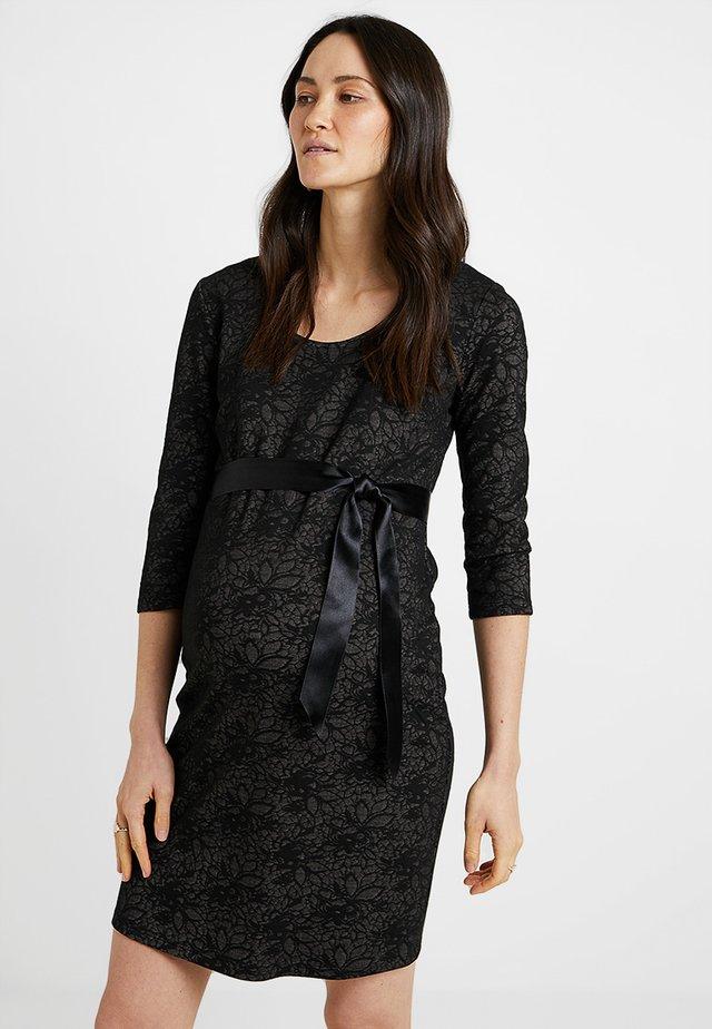 DRESS TRUDY - Vestito di maglina - black