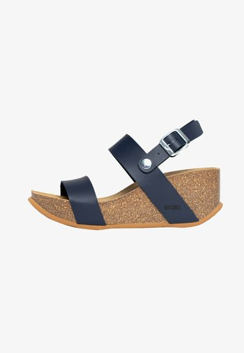 SELENE - Platform sandals - blue