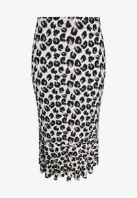 Yoek - Pencil skirt - brown - 0