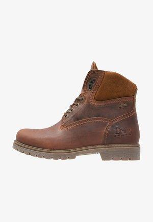 AMUR - Lace-up ankle boots - grass/bark