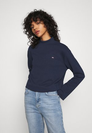 SOLID HYBRID LONGSLEEVE - T-shirt à manches longues - twilight navy