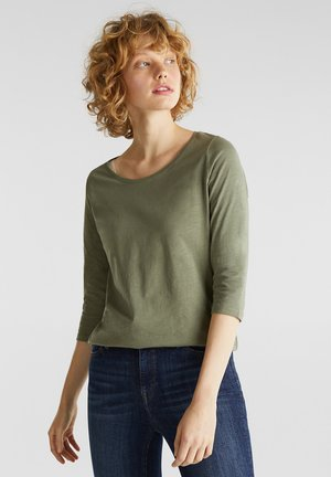 Long sleeved top - khaki green